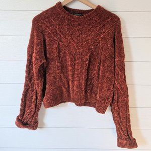 Topshop Burnt Orange Chenille Sweater 8